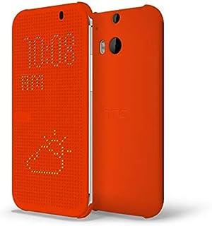 HTC Dot View Case for HTC One M8 Orange