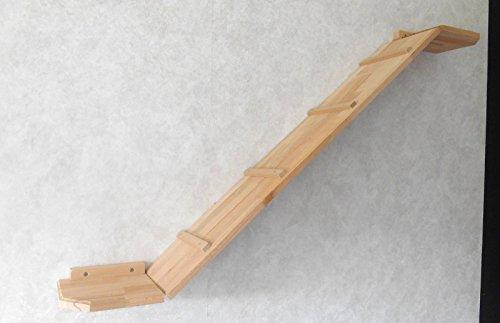 Katzen Wandpark, handgefertigte Tiermöbel / Luxusmöbel, Katzenmöbel in vielen Ausführungen, Kratzbaum / Katzenbaum für die Wand. Hier: Winkelbrücke 130 x 20 cm (1212W)