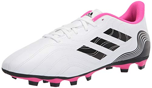 adidas mens Copa Sense.4 Firm Ground Soccer Shoe, White/Black/Shock Pink, 5.5 US
