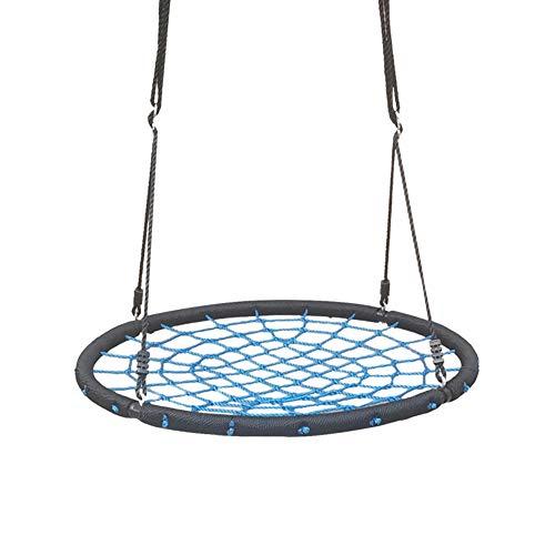 Saucer Swing, Dragende 150kg Tree Swing, Groot formaat Diameter 100cm opknoping touw Stoel, hoge kwaliteit gevlochten touw Net Kids Hangstoel installeren op boom pergola klimrek