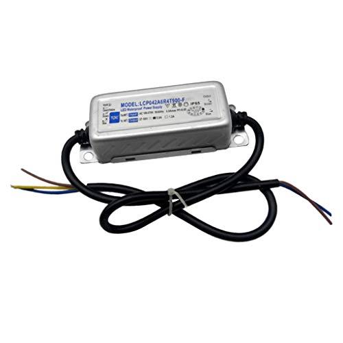 P Prettyia 27-50V Módulo de Tira de LED Transformador de Controlador de Fuente de Alimentación LED a Prueba de Agua 42W