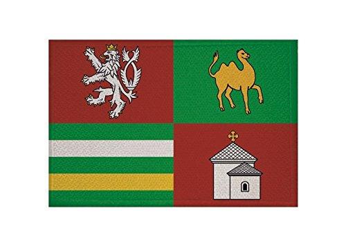 U24 Aufnäher Pilsen Region (Tschechien) Fahne Flagge Aufbügler Patch 9 x 6 cm