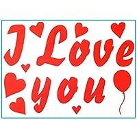 ステッカー バレンタインデー バルーンステッカー 風船 飾り 飾り付け 結婚式 デコレーション ギフト お祝い パーティー用品 撮影道具 Cutelove