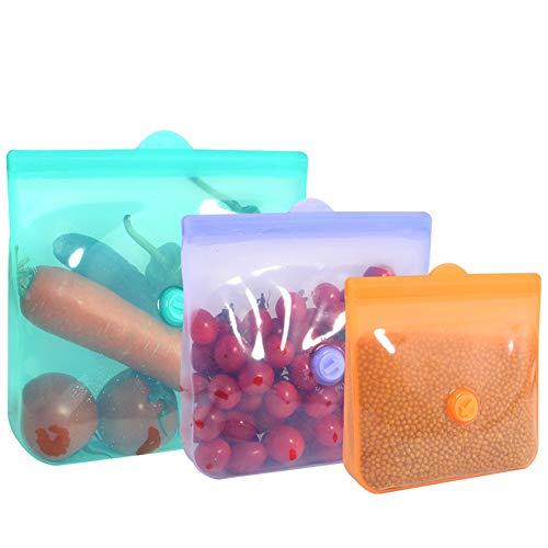Bolsa de mantenimiento fresco Bolsa de almacenamiento de alimentos de silicona Bolsa de sellado de frutas ecológica 165 * 157 mm rosa