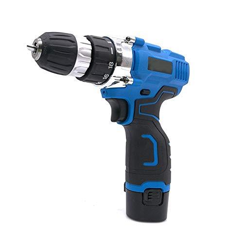 yaohuishanghang Home Tool Kit 12V de Dos velocidades Destornillador eléctrico, Recargable Taladro de Mano Herramienta eléctrica Grado Industrial Small Parts (Color : Blue)