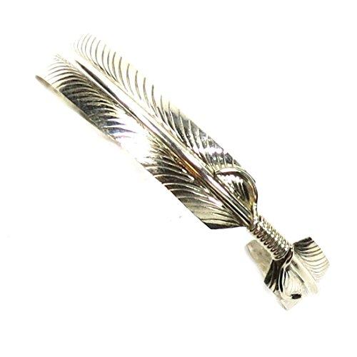 The Route 66 Shop Indianerschmuck Armspange für Damen aus Silber - Indian Feather