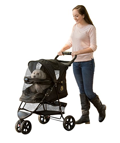 Pet Gear No-Zip Special Edition 3 Wheel Pet Stroller for Cats/Dogs, Zipperless Entry, Easy One-Hand...