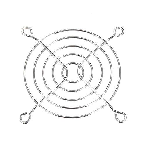 iMiMi Fan Grill 3 PCS Finger Guard Metalen Ventilator Grill Protector voor 80mm x 80mm Case Fan Zilver Tone