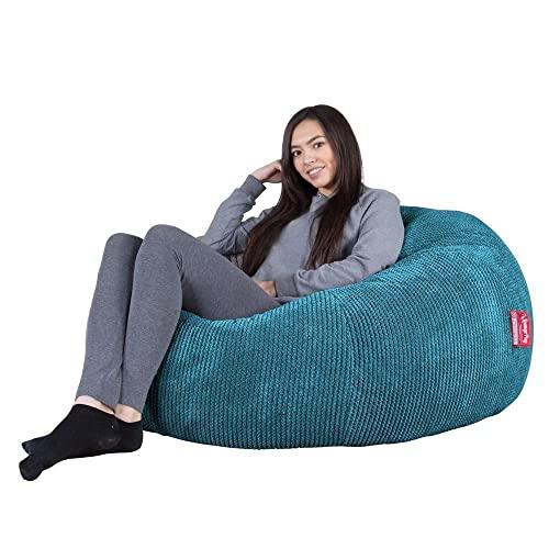 Lounge Pug® - Pom Pom - LUXURY Bean Bag SOFA - SOFA Beanbags UK - AEGEAN BLUE