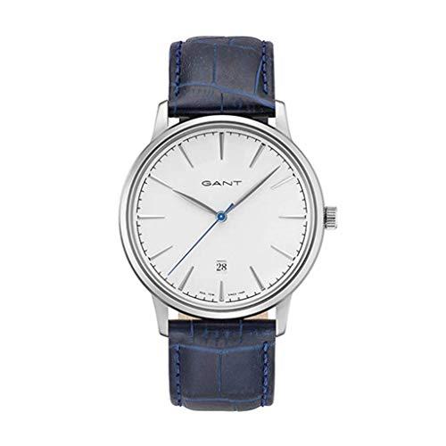 GANT Herren Analog Quarz Uhr mit Leder Armband GT020001