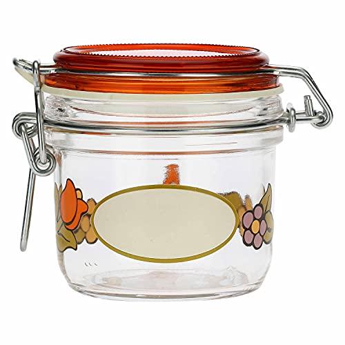 THUN - Tarro hermético de cristal Country con girasol y mariposa.