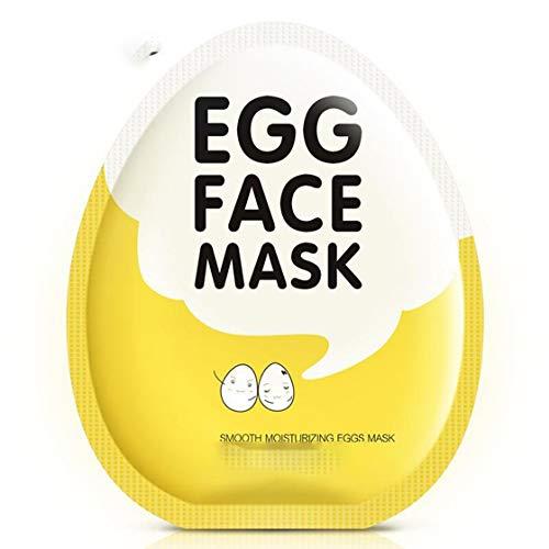 BIOAQUA Mascarilla Hidratante de Huevo 5 Rebanadas de Agua, Aceite, Aceite y Piel NO.BQY2538