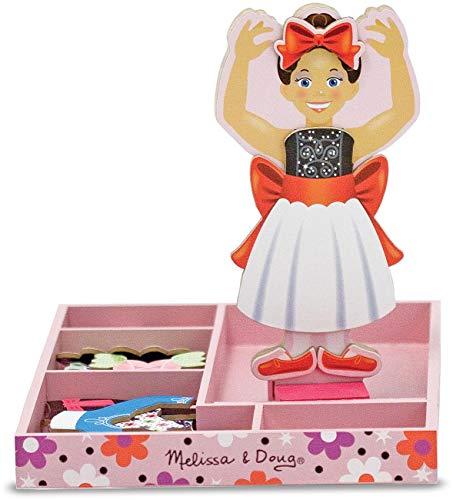 Melissa & Doug - Nina Ballerina magnetische Anziehpuppe Magnetisches Holzpuppe