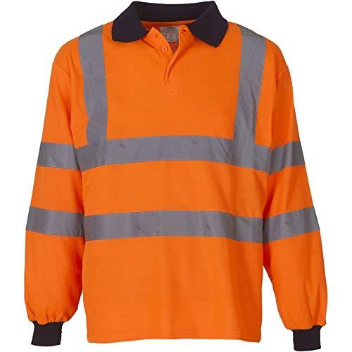 YOKO Veste de yk021/hvj310 Haute visibilité Polo à Manches Longues XL Orange