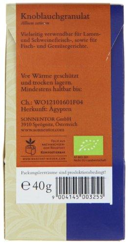 Sonnentor Knoblauch Granulat, 1er Pack (1 x 40 g) – Bio - 2