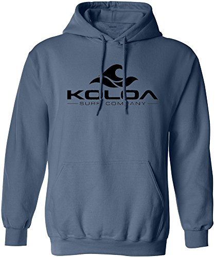 Koloa Surf Wave Logo Hoodies - Hooded Sweatshirt, S - Indigo/b