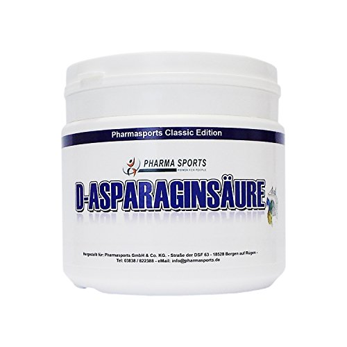 250g DAA Profi D-Asparaginsäure - 100 % Reines Pulver Premium Pharmaqualität + Natural -D-AA Testo Booster + Muskelaufbau usw