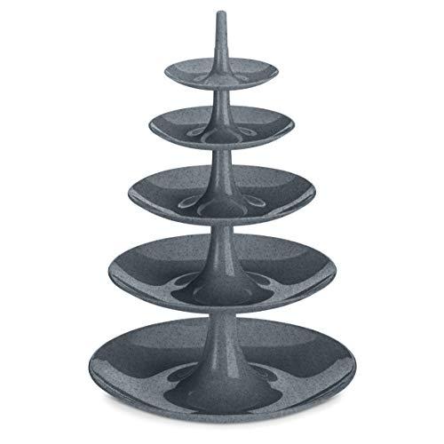 Koziol 3185673 BABELL BIG Etagère, Platten, Serviertabletts, Cupcakehalter, Kunststoff