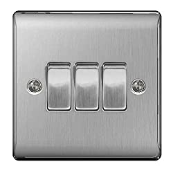 BG Nexus metal range. Select product option from drop down box Modern, curved slim design. Brushed steel finish No visible plastic around switches. Angled in-line captive terminals Durable, hard-wearing products from leading UK brand, British General...