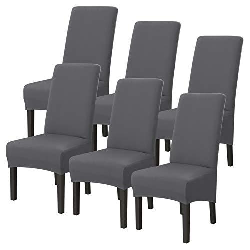 Ryoizen - Coprisedia XL per sedia da sala da pranzo, tinta unita, estensibile, copertura per sedia...