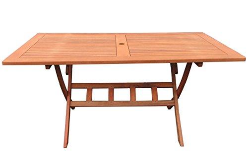 GRASEKAMP kwaliteit sinds 1972 tuintafel Rio Grande 140x80cm houten tafel eettafel tuintafel balkon tafel