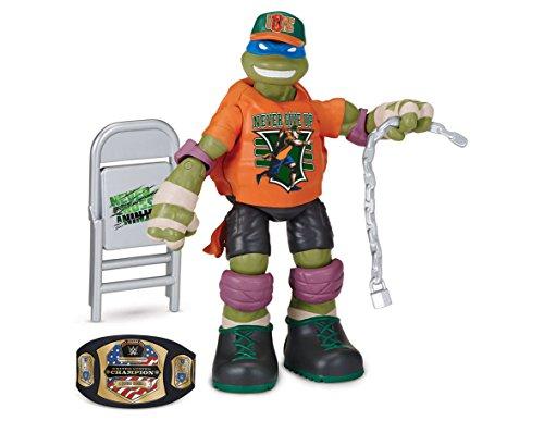 Teenage Mutant Ninja Turtles - Figura de acción de Leo como John Cena de la WWE