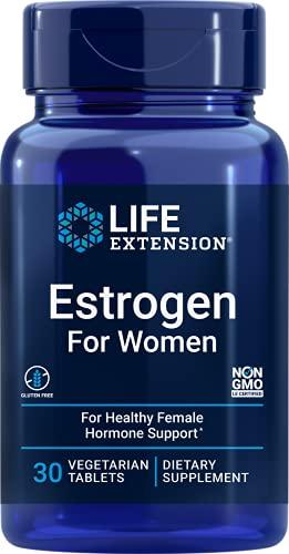 Life Extension Estrogen for Women for Healthy Female Hormone Support 30 Vegetarian Tablets