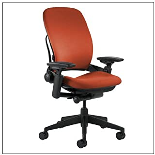 Steelcase Leap(R) Chair (v2) - Fabric, color = Tomato; details = Black