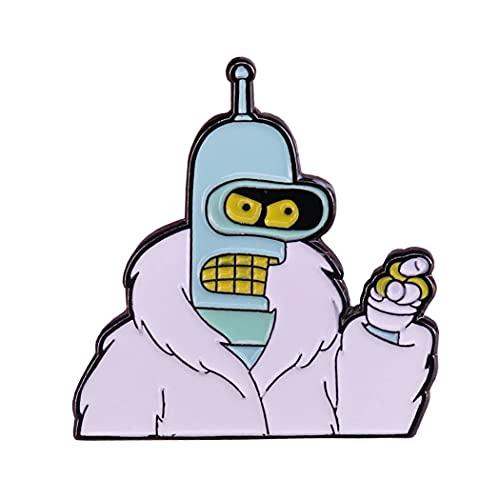 Futurama Bender der Roboter Pin Button...