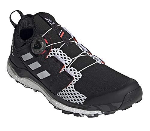 adidas Men's Terrex Agravic BOA Trail Running Shoe, Core Black/Crystal White/Solar Red - 8