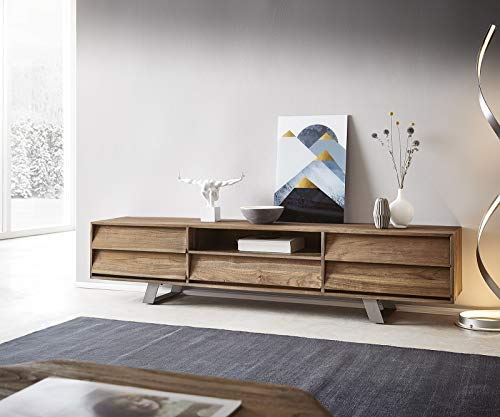 DELIFE TV-Board Eloi Natur 200x40x45 cm Teak Lowboard