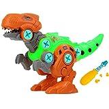 Dinosaurios Modelo con Destornillador,para Desmontar Dinosaurios Modelo, Modelo de Montaje de Dinosaurios,DIY Assembly Dinosaur Model,Toy para niños y niñas de 3 4 5 6 7 años