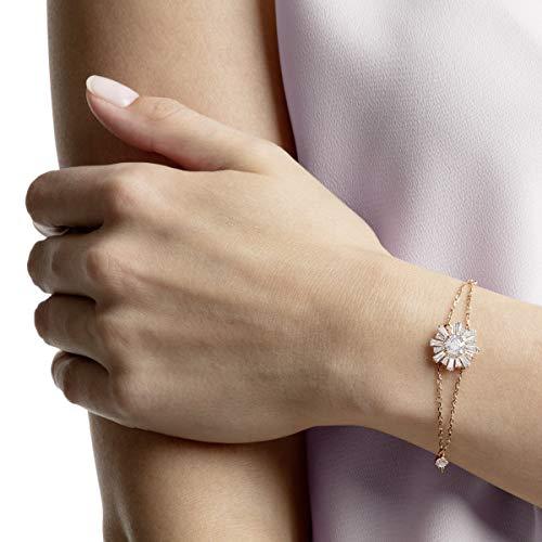 Swarovski Braccialetto Sunshine, Bianco, Placcato Oro Rosa