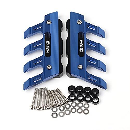 ZMMWDE 5 Colores Scooter CNC Accesorios Guardabarros Bloque de protección Lateral Guardabarros Delantero Deslizador anticaída,para SYM Cruisym300 GTS300I JOYMAX Z300 Azul