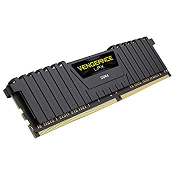 Corsair Vengeance LPX 16GB  1x16GB  DDR4 DRAM 3000MHz  PC4 24000  C15 Memory Kit - Black
