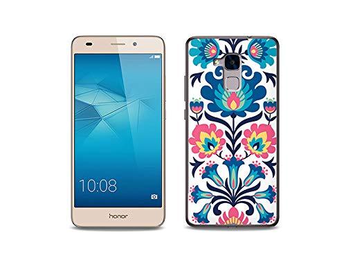 etuo Handyhülle für Huawei Honor 5C - Hülle, Silikon, Gummi Schutzhülle - Volksmuster