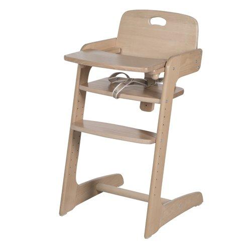 roba Treppenhochstuhl 'Kid Up', Kinderhochstuhl aus Massivholz, natur, mitwachsender Hochstuhl für Babys und Kinder