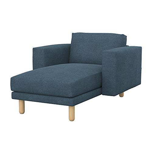 Soferia Funda de Repuesto para IKEA NORSBORG chaiselongue, Tela Strong Blue, Azul