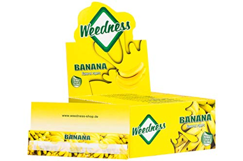Weedness Long-Papers met smaak King Size 5 boekjes banaan bonte papier lang - blunt papier met smaak rookpapier