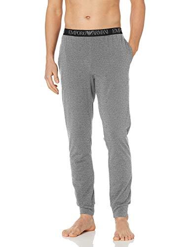 Emporio Armani Herren Endurance Trousers Pyjamahose, Dunkelgrau Melange, Medium