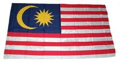 Fahne Stockflagge Malaysia NEU 30 x 45 cm Flaggen