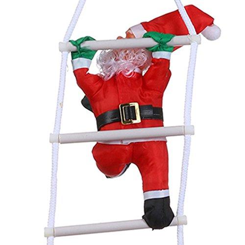 Fulltime® Décorations de Noël, Santa Claus sur l'échelle de décoration de Noël Pendentif Suspendu décor (1pc)
