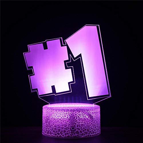 Fortnight Luce Di Notte Lampade 3D Illusione Ottica Luce Notturna Ragazzi Decorazione Per Bambini Luce Umore Lampada Lampade Da Scrivania Regalo Di Compleanno