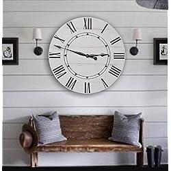 Sidney 36 Inch Farmhouse Wall Clock - Farmhouse clock - rustic clock - oversized wall clock - big clock - large clock - farmhouse decor - rustic decor -