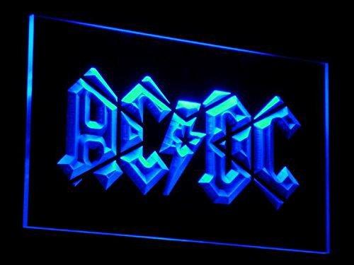 ACDC Band LED Zeichen Werbung Neonschild Blau