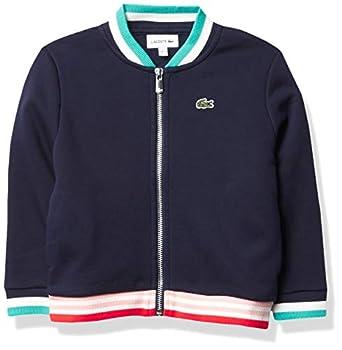 Lacoste Girls  Semi Fancy Bomber Sweatshirt Navy Blue/Multico 12YR