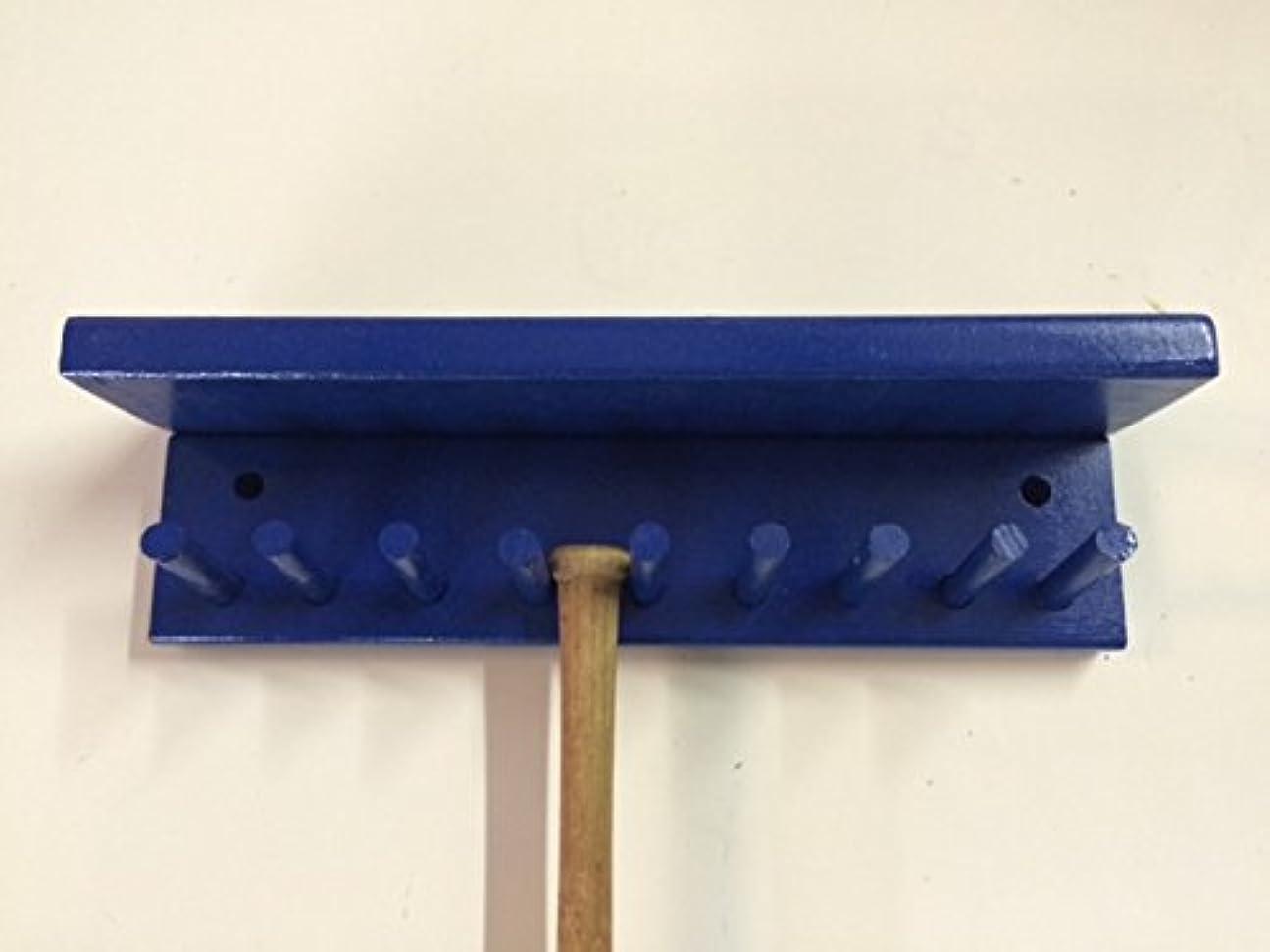 一般化する蒸発するレルム野球バットラック表示ホルダー8?Mini Collectible Bats withシェルフブルー