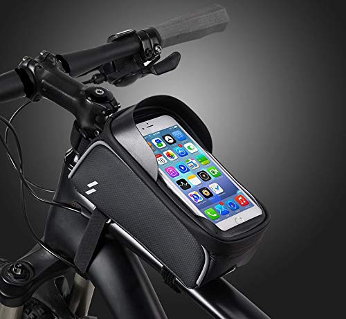 Cycling Fahrradtasche.wasserdichte Rahmentasche, Smartphonetasche für Fahrrad, Oberrohrtasche für Smartphones bis 6,5 Zoll