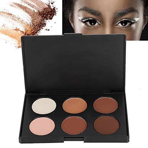 Poudre d'ombrage, poudre d'ombrage de contour du visage 6 couleurs poudre cosmétique de maquillage longue durée pour le contour du visage, ombre, fard à joues, correcteur(1#)