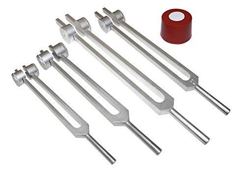 Radical 4er-Set Otto Tuner +1 Ohm Gewichtete Stimmgabel Wirbelsäule Nerven Taschentücher Knochen Hüfte Energie